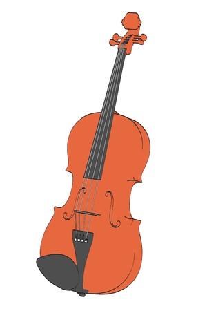 2d: 2d cartoon illustration of violin