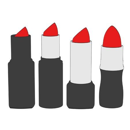 2d cartoon illustration of lipsticks