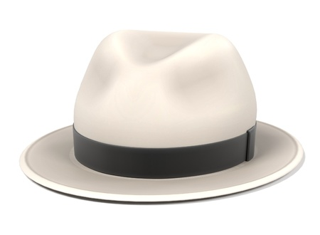 bowler hats: 3d renderings of panama hat Stock Photo
