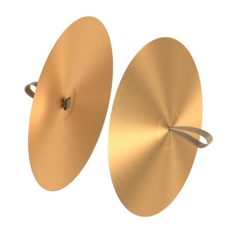 3d rendering of cymbals (musical insturment)