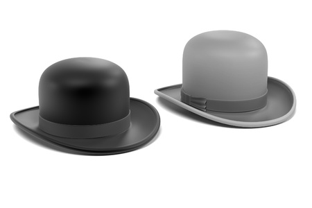 bowler hats: 3d renderings of bowler hats