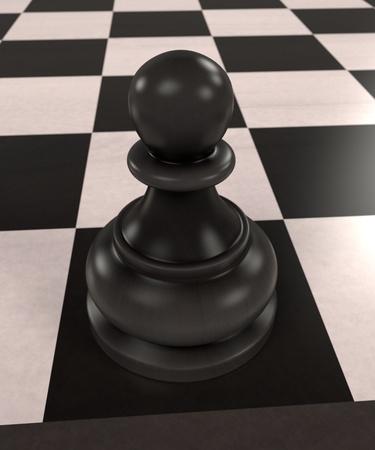 체스 보드 게임의 3d 렌더링