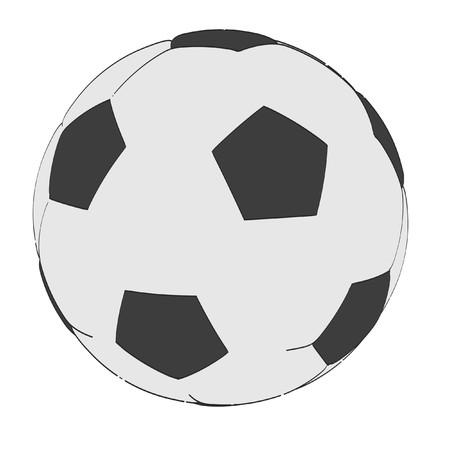 2d: 2d cartoon illustration of soccer ball