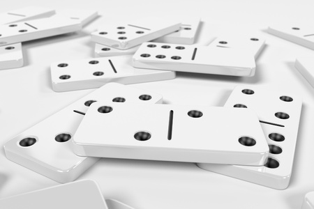 childern: 3d rendering of domino set
