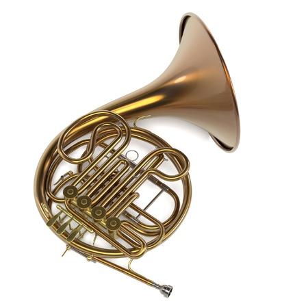 renderings: 3d renderings of french horn