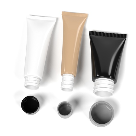 suppliers: 3d renderings of makeup tubes Stock Photo