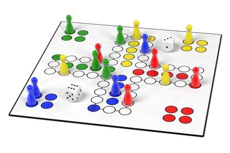 childern: 3d renderings of ludo game Stock Photo