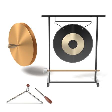 renderings: 3d renderings of percussion set Stock Photo