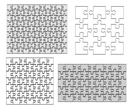 2d: 2d cartoon illustration of puzzle Stock Photo