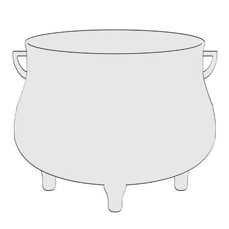 Illustration de bande dessinée 2d pot alchimie Banque d'images - 55679431