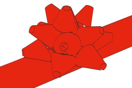 2d: 2d cartoon illustration of ribbon Stock Photo