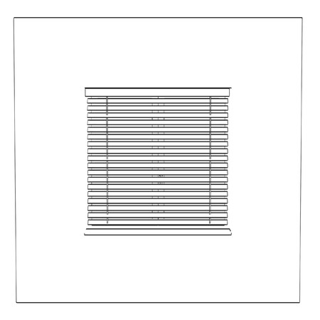 2d cartoon illustration of blind and windows