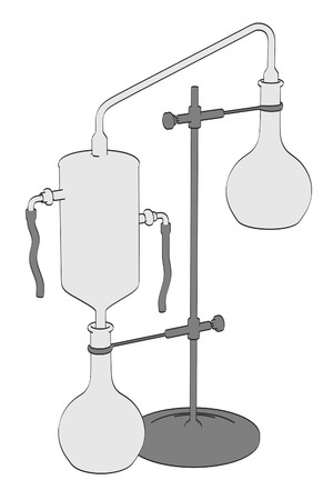 alquimia: 2d ilustraci�n de dibujos animados de la herramienta de la alquimia