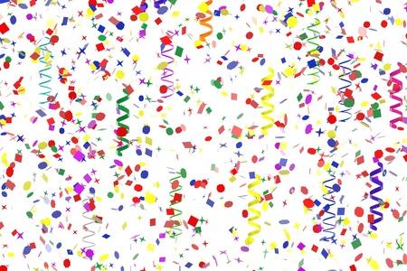 decoratio: 3d render of party confetti