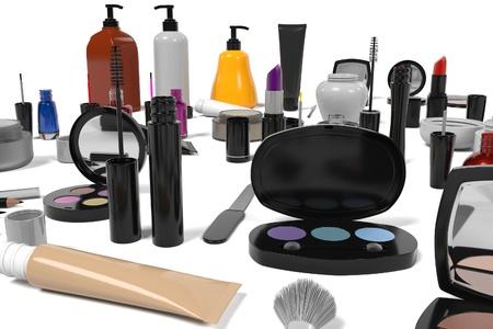 suppliers: 3d rendering of cosmetics set