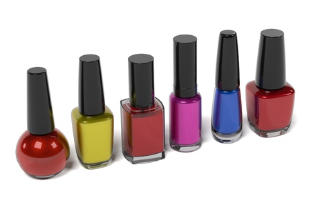 nailpolish: 3d renderings of nail polishes