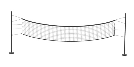volleyball net: 3d rendering of volleyball net Stock Photo
