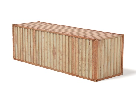 rusty: 3d renderings of rusty cargo container Stock Photo