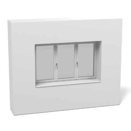 courtain: 3d rendering of modern window
