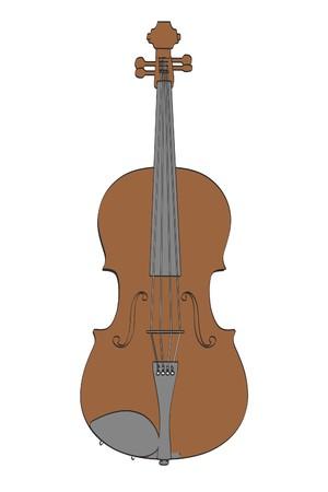 cellos: 2d cartoon illustration of viola