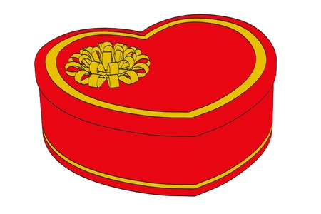 2d: 2d cartoon illustration of gift