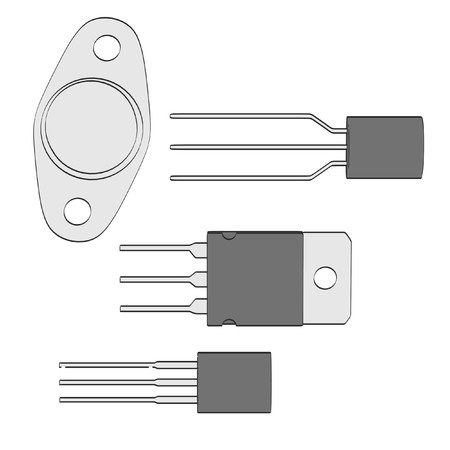 transistor: 2d ilustraci�n de dibujos animados del transistor