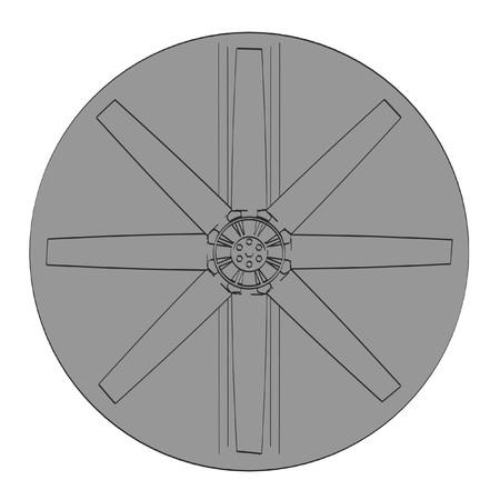 2d: 2d cartoon illustration of large fan