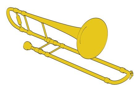 trombon: 2d ilustraci�n de dibujos animados de tromb�n