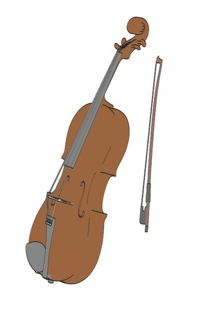 viola: 2d cartoon illustration of viola