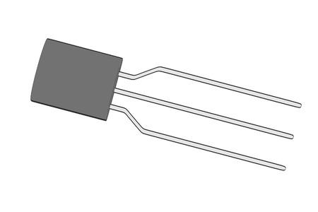 transistor: 2d ilustración de dibujos animados del transistor