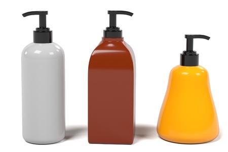 renderings: 3d renderings of lotion boxes Stock Photo