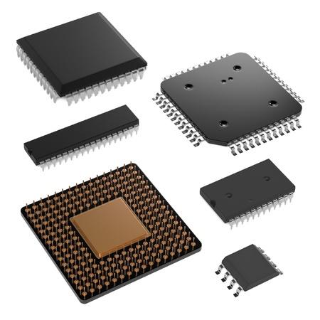 3d rendering of computer chips