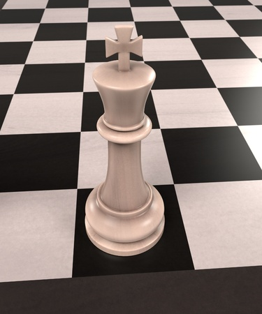 royal person: 3d rendering of chess board game
