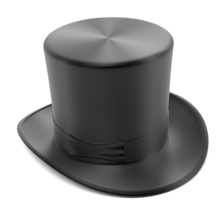 bowler hats: 3d renderings of top hat Stock Photo