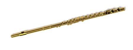 flute: 3d renderings of flute (musical instrument) Stock Photo