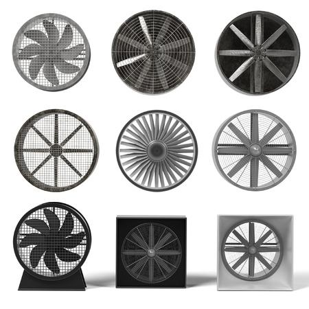 renderings: 3d renderings of large fans