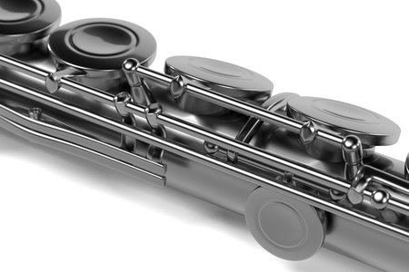 flute instrument: 3d renderings of flute (musical instrument) Stock Photo
