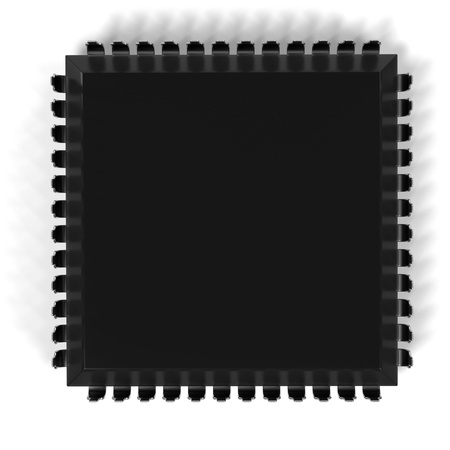 semiconductors: 3d rendering of computer chip