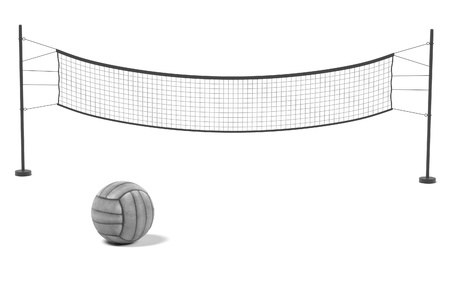 olympic game: 3d rendering of volleyball net with ball