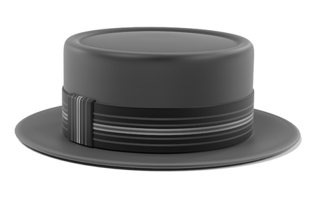 bowler hats: 3d renderings of porkpie hat