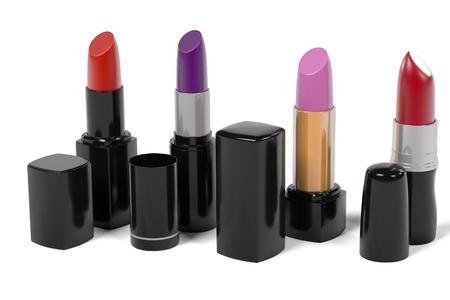 renderings: 3d renderings of lipsticks set