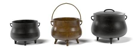 Rendus 3D de pots d'alchimie Banque d'images - 55818591