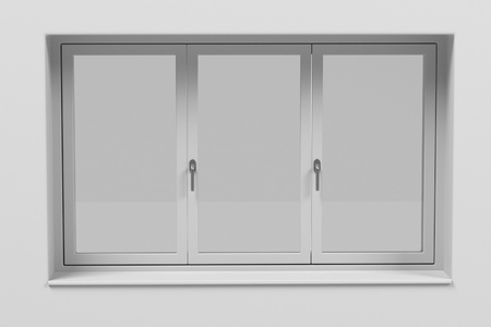 sunblind: 3d rendering of modern window