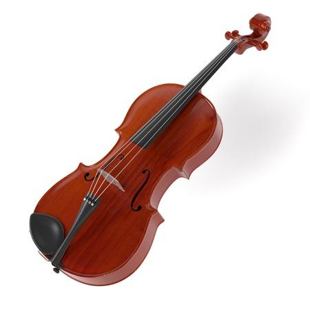 viola: 3d rendering of viola musical instrument Stock Photo