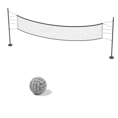 volleyball net: 3d rendering of volleyball net with ball