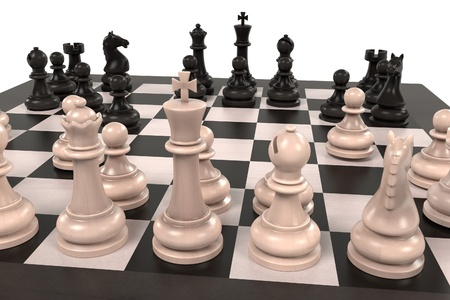 desk toy: 3d rendering of chess board game