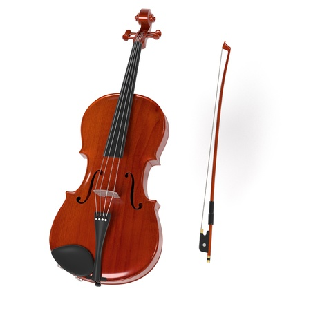 cellos: 3d rendering of viola musical instrument Stock Photo