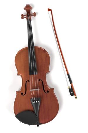 viola: 3d rendering of violin musical instrument Stock Photo