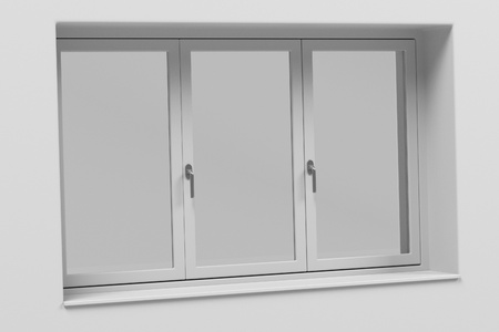 courtain: 3d rendering of modern window