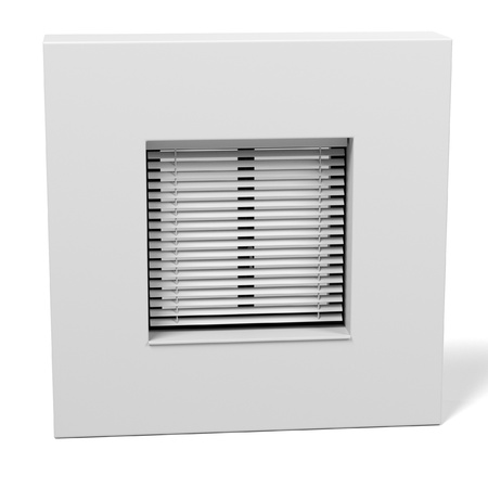 sunblind: 3d rendering of window with blinds Stock Photo